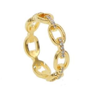 """DJADEE """"Shiny"""" Damen Ring 18K Gold vergoldet Zirkonia R5600DS"""