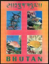 Bhutan Bhutan 100f Fish Mint Nh Stamps