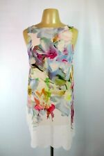"""Stunning Ted Baker """"Sew in Love"""" Floral Party Dress S Scalloped Tunic Top Sheer"""
