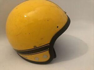 Vintage Yellow & Black SKI-DOO Snowmobile Helmet Made in the USA size M