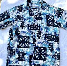 Hawaiian Shirt Vintage Surfside Sportswear 70s Aloha Shirt Tie Dye Floral Size L