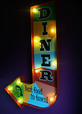 DINER arrow light led sign americana 50's retro vintage wedding gift VAC204
