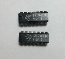 Pair of 7440 TTL ICs -   Dual 4-input pos. NAND buffer - DIP-14
