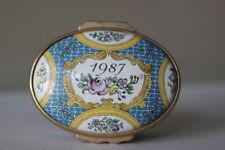 Halcyon Days English Enamels 1987 A Year to Remember Trinket Box Vintage