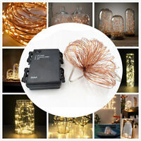 10M Copper Wire Led String Lights with timer 3xAA Battery Operated Light
