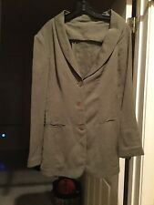 100% JEAN PAUL GAULTIER FEMME WOMEN FITTED LINEN JACKET/ ITALY 42/US 8