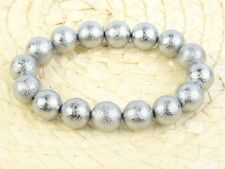 Meteorite Muonionalusta Beads 12mm Bracelet Flexible - 122.8g #Other2066