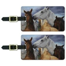 Horse Support Group Luggage ID Tags Suitcase Carry-On Cards - Set of 2