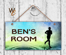 Runner Sign, Personalized 5x10 Sign, Kid's Name, Kids Door Sign, Running Track