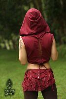 Psy Fairy Hood Vest, Pixie Festival Boho Braided Wrap Elven Psytrance Rave Goa