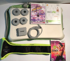 Nintendo Wii Fit With Balance Board Battery Pack Bag Three Games With Zumba Belt