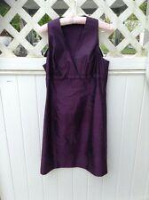 Vintage Tahari Sleeveless Dress-Purple Fitted Fancy Dress