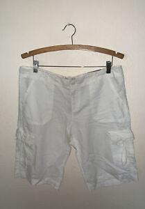 womens 10 American Eagle linen shorts nwt cargo white