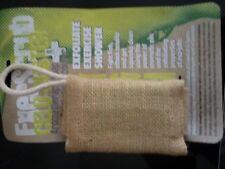 lot savon exfoliant aromatherapie anti cellulite et gant jute biodegradable