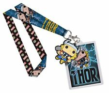 OFFICIAL MARVEL COMICS THE MIGHTY THOR FUNKO POP! TILED BLACK LANYARD (NEW)