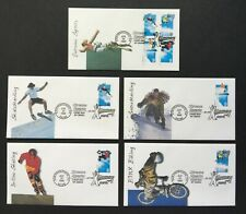 US Fleetwood FDC Lot of 5 1999 Extreme Sports First Day Covers I