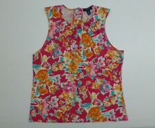 Chaps Womens Size XL Pink Floral Sleeveless Tank Shirt Excellent Condition