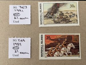 Marshall Islands Sg 249/250/363/248 Single Sets U/M Cat £5,20