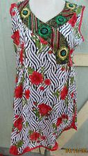 New design ` full embroidery  rayon matrial /kurta long tunic size L 42