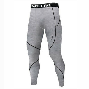 Take Five Mens Skin Tight Compression Base Layer Running Pants Leggings NT504