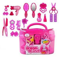 Cute Pricess Makeup Set Hairdressing Kids Girls Play House Simulation Toy
