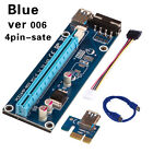 USB 3.0 Cable Pcie PCI-E Express Extender Riser Card Adapter Power 1x To 16x HOT