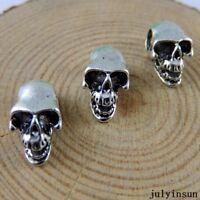 5//20//100pcs Tibetan Silver Lovely 3D skeleton blame Craft Charms Pendant 43x16mm