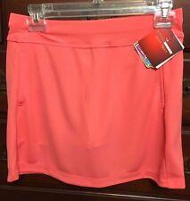 Grand Slam Sugar Coral Textured Knit Golf Skort Size XS NWT