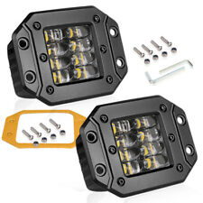"2X 5"" Cree Flush Mount LED Pod Work Light Bar Spot Driving Off Road 4WD Quad Row"