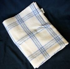 Vintage ALASKA AIRLINES Woven Wool Plaid Blanket