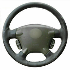 Top Leather Steering Wheel Hand-stitch on Wrap Cover For Honda CRV CR-V 2003-06