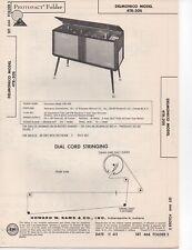 1963 DELMONICO 4TR-20S RADIO RECORD PLAYER CHANGER SERVICE MANUAL SCHEMATIC FIX