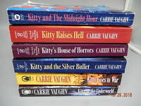 CARRIE VAUGHN paranormal romance lot - Kitty Norville series 7 pb books