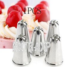 2PCS Rose Flower Icing Piping Nozzle Tips Fondant SugarCraft Cake Cupcake Decor