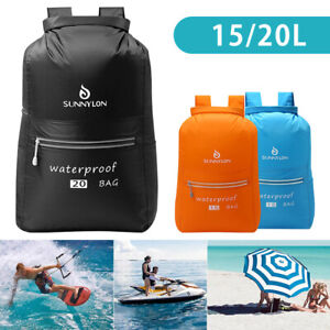 Waterproof Dry Bags Sack Backpack Rucksack Canoe Kayak Camping Hiking Fishing C