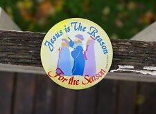 "Jesus Is The Reason For The Season Christmas Holiday 3"" Metal Pin Pinback Button"