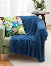 "KNITTING PATTERN - LOVELY LACY KNIT THROW/AFGHAN/BLANKET 46"" X 56"""