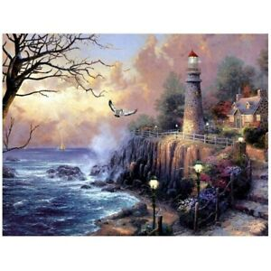 5D Full Drill Diamond Painting Embroidery Cross Stitch Home Decor Gift Buildings