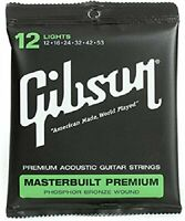Corde ricambio chitarra acustica Gibson rivestite fosforo bronzo SAG-MB12 12-53