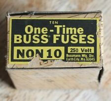 BUSS Fuses - Vintage New Old Stock - 250 Volt NON 10 amp - Partial box of 6