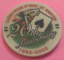 CASINO ROUGE ET NOIR ~ $1 CASINO CHIP ~ PHILIPSBURG, ST. MAARTEN ~ 2002 ~ CHIPCO