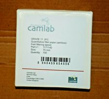 Ashless Quantitative Filter Paper 110 mm Diameter Pack of 100 41 Fast Filtering Camlab 1171144 Grade 11