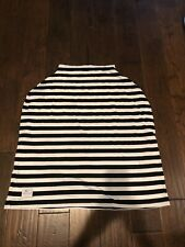 Munchkins & Milestones Black And White Stripe Car Seat/Nursing Cover