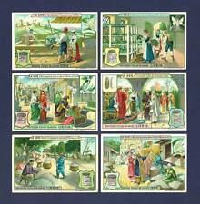 LIEBIG - RARE SET OF 6 CARDS  -  S  912  /  F  911  -  STORY  OF  SILK  -  1907