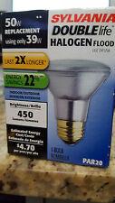 NEW Sylvania Double Life Halogen Flood 50 Watt PAR20 Light Bulb