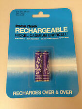 (2) Rechargeable Nickel Cadmium AAA Batteries 1.25V Ni-Cd Radio Shack new in pkg
