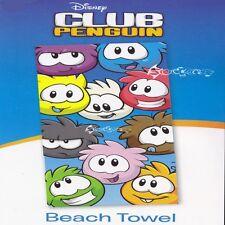 Official Disney Club Penguin Cotton Beach Bath Towel
