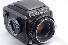 Zenza Bronica S2 Black with nikon Nikkor-P 75mm f2.8 6×6 Medium Format Rare