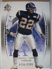 2003 SP AUTHENTIC # 115 SAMMY DAVIS   CHARGERS   BOX 83