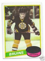 1980-81 TOPPS # 140 BRUINS RAY BOURQUE EX+ ROOKIE  CARD